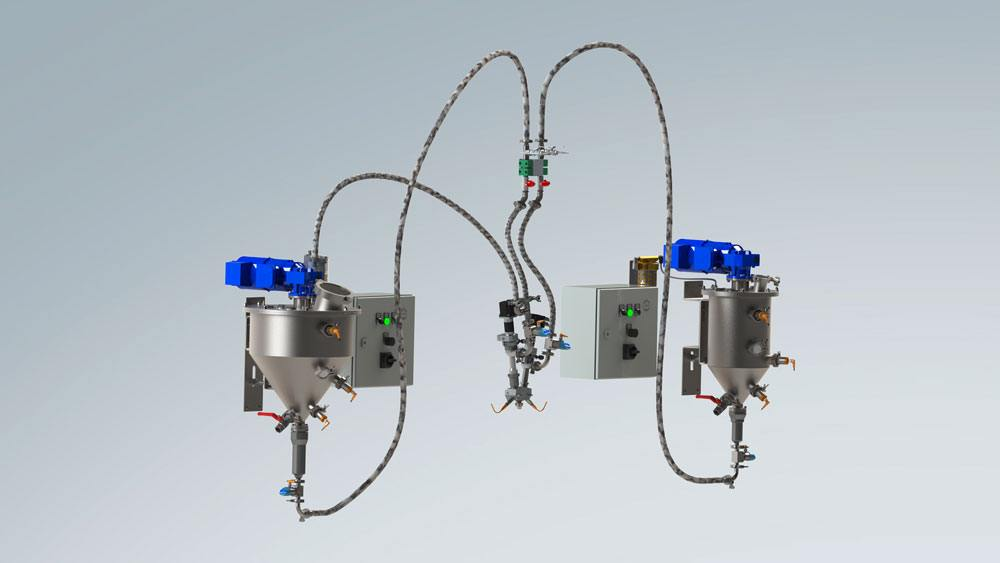Complete dispensing system with two degassing systems and 2-component dispenser