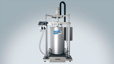 Emptying system for low to high viscosity food and cosmetics like mascara